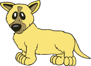 A Yellow Dog...